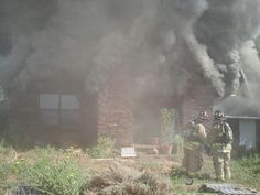#firefighter in action - Ugly Smoke