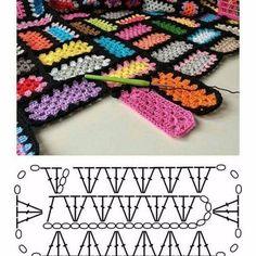 Breathtaking Crochet So You Can Comprehend Patterns Ideas. Stupefying Crochet So You Can Comprehend Patterns Ideas. Crochet Motifs, Granny Square Crochet Pattern, Crochet Blocks, Crochet Diagram, Crochet Stitches Patterns, Crochet Chart, Crochet Squares, Crochet Granny, Knitting Patterns