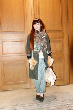 [STREET SNAP]青柳文子 | YOSHiKO CREATiON PARiS |  ストリートスナップ | 東京(原宿)|