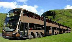 The longest bus in the world                                             dit ombouwen tot camper!!!