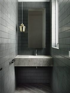 greeny grey mosaics and A330 pendant.