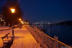 What's better than seeing the beautiful sights of Bratislava? Probably seeing Bratislava by night :) Winter Night, Bratislava, Cities, Tours, Apollo, Bridge, Outdoor, Beautiful, Free