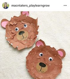 Fall Autumn Forest Woodland Goldilocks and the three bears book Bear craft Bear Activities Preschool, Bear Crafts Preschool, Daycare Crafts, Classroom Crafts, Teddy Bear Crafts, Teddy Bear Day, Toddler Art, Toddler Crafts, Crafts For Kids