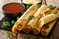 Homemade Chicken Taquitos | Cooking Professionally Oven Baked Chicken, Bbq Chicken, Chicken Recipes, Cheesy Chicken, Turkey Recipes, Baked Taquitos, Taquitos Recipe, Mexican Dishes, Mexican Food Recipes