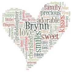 Create your own word cloud art quick and easy!  Super cool - Just made one for Harrison.