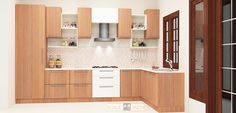 Get modular l shaped kitchen online for small & Indian homes at scaleinch.com. Manufactured with Plywood & Laminate Finish