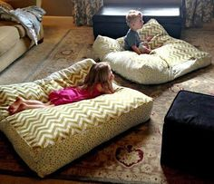 Giant DIY Floor Pillows | AllFreeSewing.com