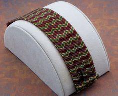 Chevron Beaded Peyote Bracelet Pattern