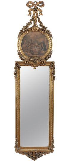Louis XVI Style Trumeau Mirror