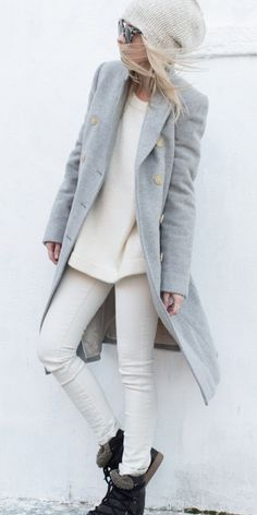 winter white and gray