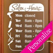 STORE HOURS CuStOm Window Decal Business Shop Storefront Door Sign - Window decals custom business