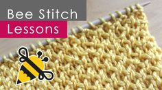 How to Knit the BEE Stitch with Free Knitting Pattern + Video Tutorial by Studio Knit