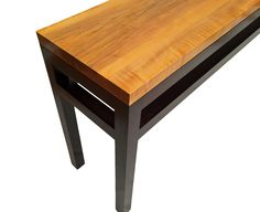 Modern Handcrafted Maple and Spanish Cedar Console Table by Matt Stout