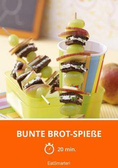 Bunte Brot-Spieße - smarter - Zeit: 20 Min. | eatsmarter.de