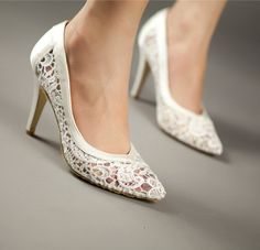 6 colors Handmade lace Wedding shoes by weddingdressoverture, $79,99