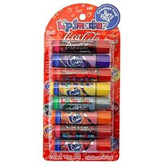 Lip Smackers Coca Cola Fanta Sprite Coke Bargs, Set of 8 Lip Balms
