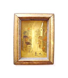 Vintage Framed Original Modern Oil Painting by therecyclingethic