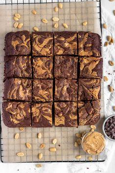 Peanut Butter Filling, Peanut Butter Brownies, Peanut Butter Chips, Natural Peanut Butter, Chocolate Peanut Butter, Melting Chocolate, Fudgy Brownies, Chocolate Brownies, Chocolate Flavors
