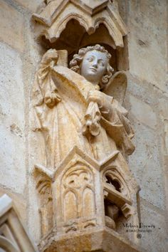 Angels & guardians on Reims Cathedral, France.