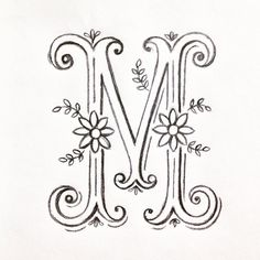 Working on some ideas for monogram / initial prints and cards, I love lettering… Hand Lettering Fonts, Doodle Lettering, Types Of Lettering, Cute Letters, Monogram Letters, Monogram Initials, Calligraphy Letters, Caligraphy, Embroidery Letters