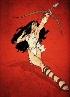 Wonder Woman - Paradise Island by PabloAlcaldeFdez on DeviantArt Princess Of Power, Princess Diana, Batman And Superman, Paradise Island, Comic Art, Dc Comics, Wonder Woman, Anime, Amazons