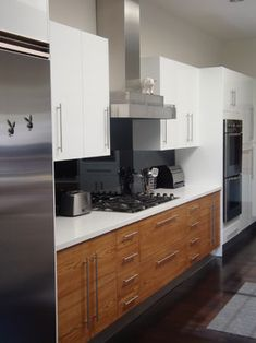 Double Island Kitchen Wood Stain White Fixer Upper