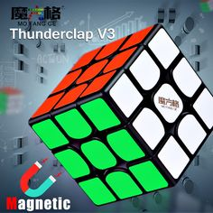 New QiYi MoFangGe Thunderclap M Magnetic Magic Cube Stickerless Puzzles Cube Professional Magnets Speed Cubo Magico - Ziloqa Store Electric Elephant, Cube Puzzle, Stress Toys, Puzzle Toys, Plush Dolls, Bead Crafts, Crystal Beads, Puzzles, Gifts For Kids