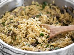 This super simple and flavorful Parmesan Portobello Orzo will become your next go-to side dish. Ready in 30 minutes, it pairs with chicken, beef, or pork.