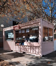 Get a step-by-step guide to easily convert an old shipping container into a beautiful home. ⚡️LINK AVAILABLE IN. Café Container, Container Coffee Shop, Container Company, Cafe Shop Design, Cafe Interior Design, Small Cafe Design, Deco Restaurant, Restaurant Design, Modern Restaurant