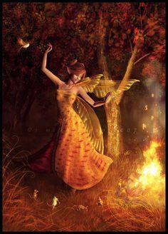 Dancing fairy, mouse musicians, art