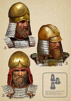 Scythian nobleman helmet styles.