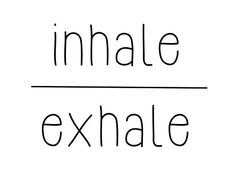 Meditation quotes - inhale, exhale • Also buy this artwork on wall prints, apparel, stickers, and more.