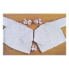 Baby Crochet Pattern Square Yoke Sweater by DigitalPatternShop