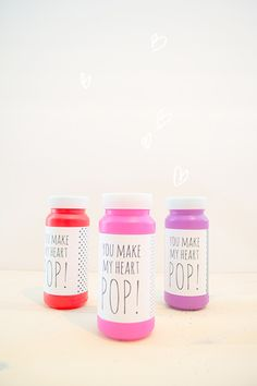You Make My Heart Pop!: It doesn't get much simpler than Love Stitched's You Make My Heart Pop! valentine! Simply affix the printable to a bottle of bubbles, and you're done! Source: Love Stitched