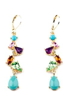 Divine Faux Stone Drop Earrings