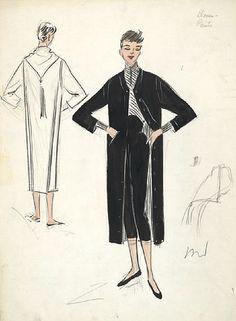 Edith Head sketch for Audrey Hepburn in Sabrina (1954)