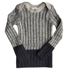 Brenin Skinny Rib Long Sleeve Top in Ink/Wheat by Mabli - Last One In Stock - 2 Years - Junior Edition Mermaid Shorts, Gray Label, Stella Mccartney Kids, Workout Tops, Long Sleeve Tops, How To Look Better, Cool Style, Kids Fashion, Men Sweater