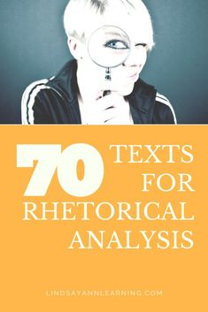 70 ready-to-use texts for rhetorical analysis in your secondary English language arts classroom. Whether you're looking for speeches rich in rhetorical appeals and devices or advertisements for close reading analysis, there's something here for everyone! Curriculum, Ap Language And Composition, Rhetorical Device, Graduation Speech, Bulletins, Essay Topics, English Language Arts, Teacher Blogs, Teacher Stuff