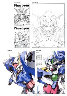 Kanetake Ebikawa Design Works [Book] (Release Date: Dec Price: yen) Gundam Exia, Gundam 00, Gundam Wing, Gundam Iron Blooded Orphans, Robot Concept Art, Mecha Anime, Super Robot, Robot Design, Gundam Model
