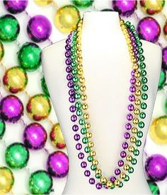 Historically the three Mardi Gras colors have each represented something unique about the holiday. Purple is equated with justice. Green symbolizes faith (sorry Al Gore), and the gold color exemplifies power (much like today).