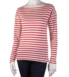Red Maggie Stripe Top | Organic Cotton