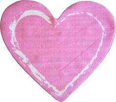 Fun Shape Medium Pile Heart Area Rug