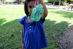 Two Ingredient Tuesday: Fabric + Scissors = Pouches for Treasures