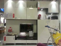 BESTA TV storage unit W300xD40xH240 @ $1,540