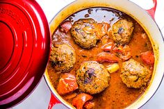 Persian Meatballs (Koofteh) — These meatballs are served in the best broth you will ever taste, I promise. You pick a meatball, take some of the freshly stewed tomatoes & softened potatoes that have soaked up all the incredible flavor from the broth in which they were cooking!
