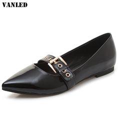38.20$  Watch now - VANLED Pointed Toe Women Flats Casual Fashion Women Ballet Flats Buttonhole Women Flat Brand New Summer Flat Lazy Shoes  #buyininternet