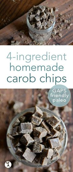 An easy sub for chocolate chips, these homemade carob chips are rich in minerals and vitamins and delicious in baking! Or just for snacking... #carob #diy #carobchips #paleo #gapsfriendly #realfood #glutenfree #dairyfree #refinedsugarfree