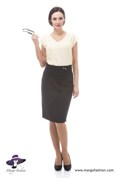 Stylizacja do pracy | Made in Poland #styl #wiosn2015 #spódnica #bluzka #style #spring15 #skirt #blouse #poland