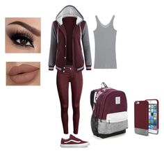 school outfits by maliyah-wbms on Polyvore featuring iHeart, Vans, Victoria's Secret and Original Penguin