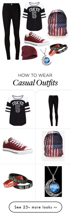 """casual"" by lostgirl-312 on Polyvore featuring AG Adriano Goldschmied, Converse, Yoek and Comeco"